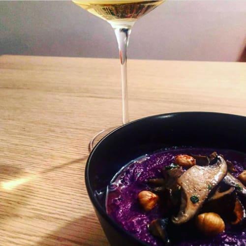 Sopa de púrpura Otoño