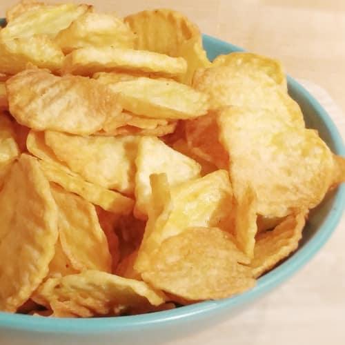 No patatas fritas fritos rústico