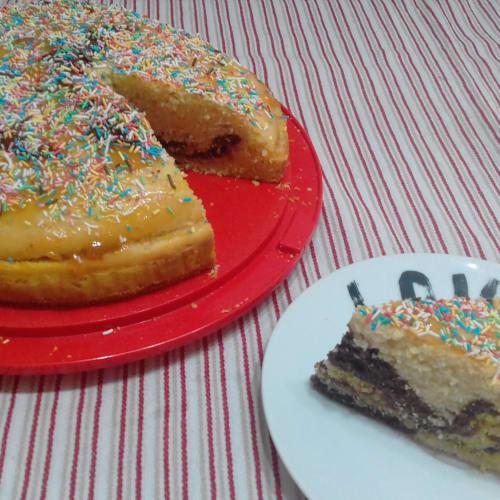 Torta Arlecchino Senza Coloranti Alimentari...!!!