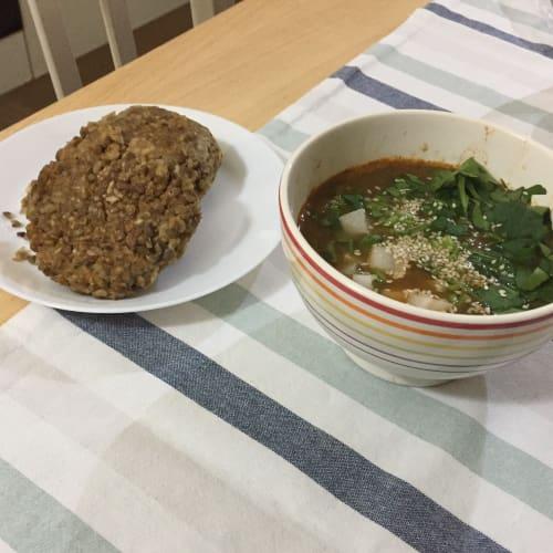 Una cena sabrosa vegana