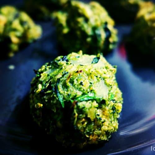 Albóndigas brócoli y calabacín al horno