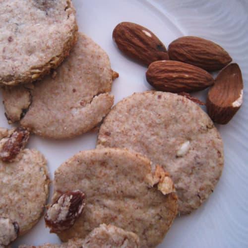 Biscotti avena e mandorle senza zucchero