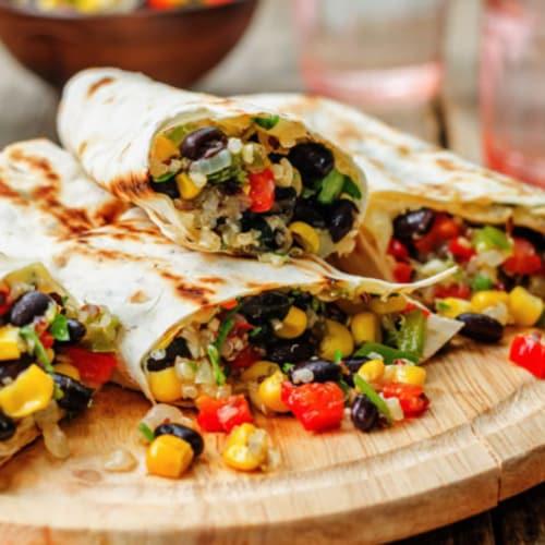 Burrito veg con fagioli e pico de gallo