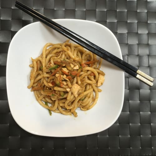 Udon Sauteed With Vegetables