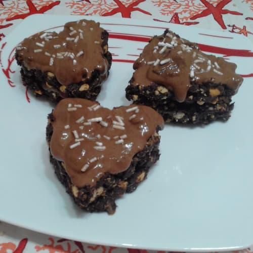 Corazón de bizcocho con crema de chocolate Mousse Sin ... !!!