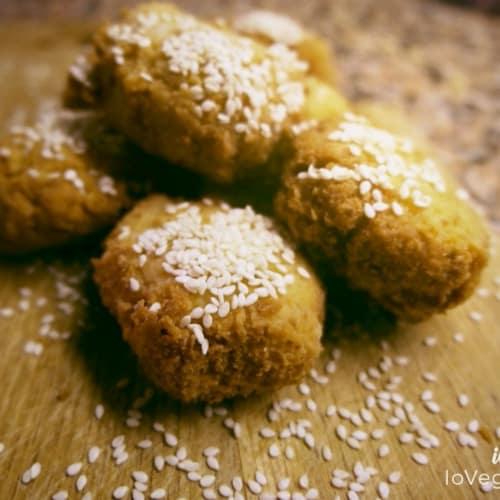 Falafel de garbanzos y semillas de sésamo
