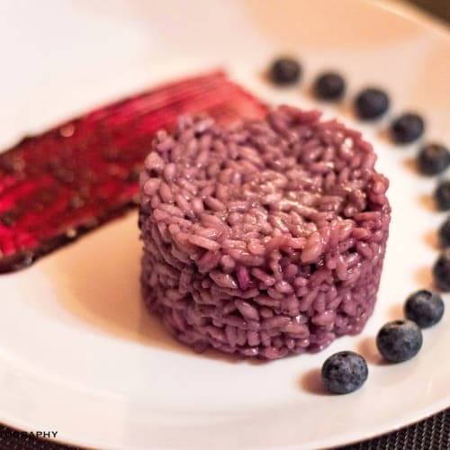 Coppato rice with blueberries
