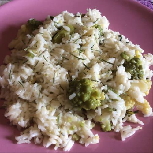 arroz basmati brócoli y Rosemary