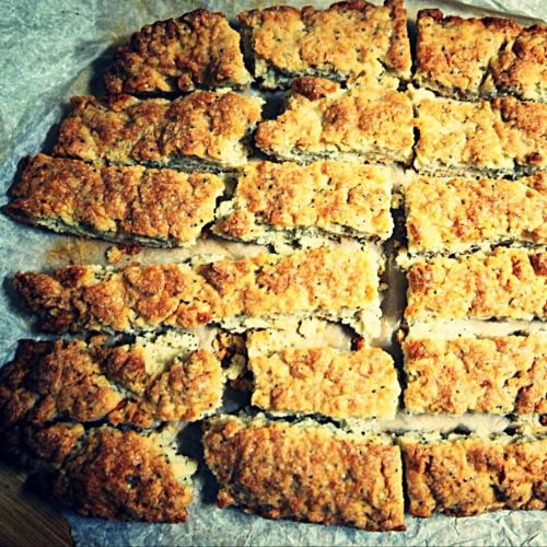 Biscotti all'arancia e semi di papavero Vegan