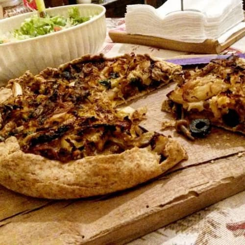Torta Salata Rustica Con Verza, Olive E Funghetti