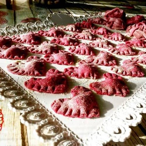 Cuor Di Rubino Gorgonzola rellenas de ricotta y Lactosa