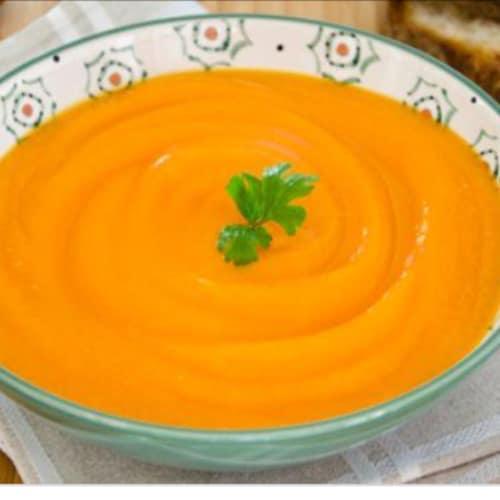 Sopa de calabaza de invierno y papate