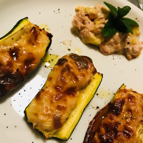Barchette di zucchine con tonno e Galbanino
