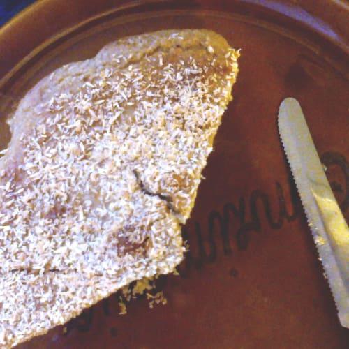 pastel de coco y jengibre limón