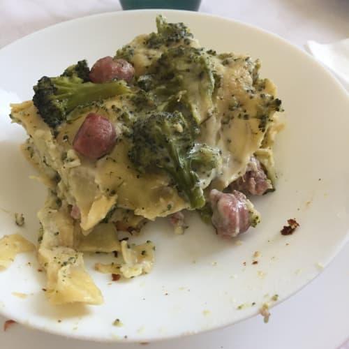 Lasagne con salsiccia e broccoli