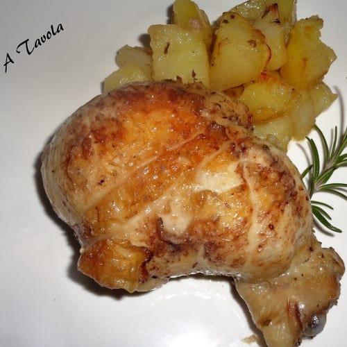 Cosce di pollo intere ripiene
