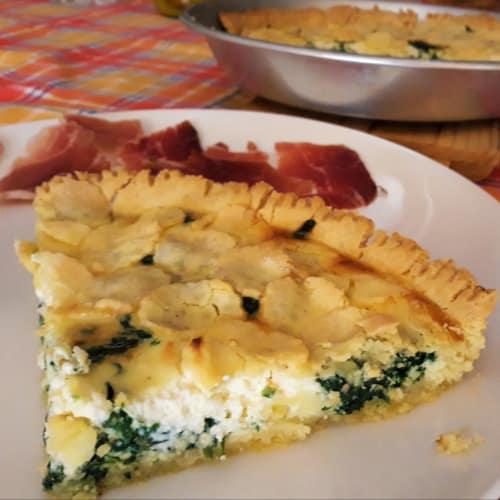Torta Salata senza glutine con spinaci e robiola