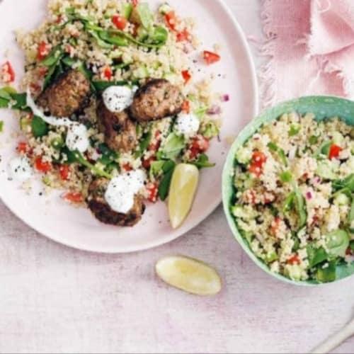 Koftas di agnello con tabulè di quinoa