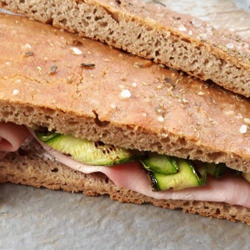 Focaccia integral sin gluten