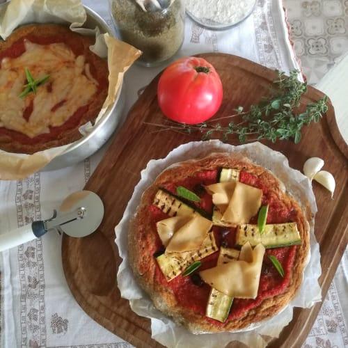 Base para pizza integral con harina de cáñamo