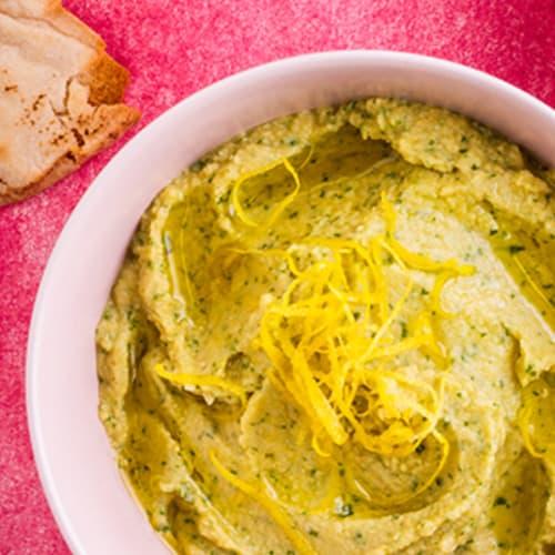 Hummus al limone e coriandolo
