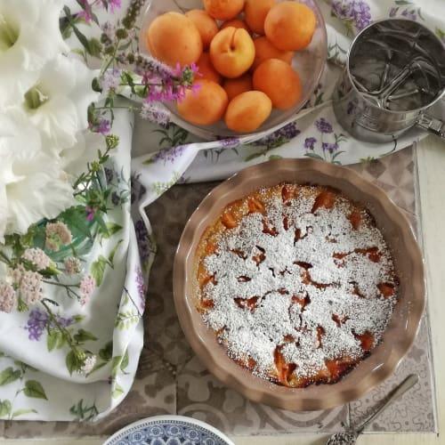 Clafoutis di albicocche Senza latte e uova