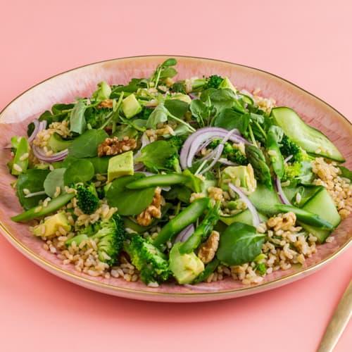 Ensalada de arroz verde