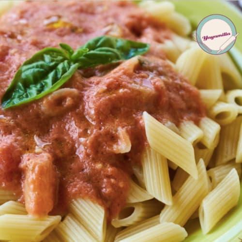 Pasta de tomate crudo