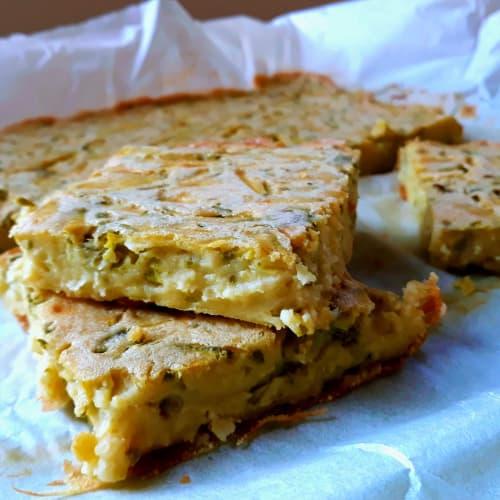 Tortilla de calabacín sin huevos