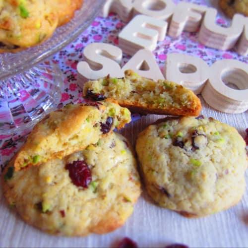 Cookies Ai Pistacchi, Mirtilli Rossi E Cioccolato Bianco