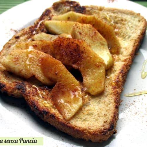 Tartine alla frutta con mele grigliate