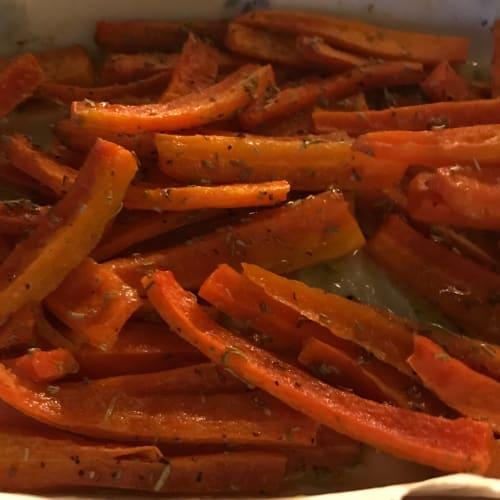 Chips de zanahorias