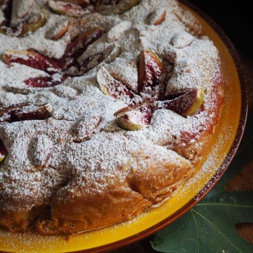 Torta soffice miele e fichi