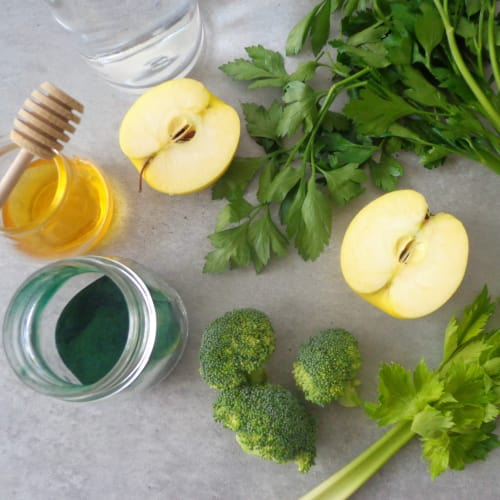 Green smoothie for a charge of vitamins