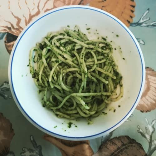 Pesto de valeriana