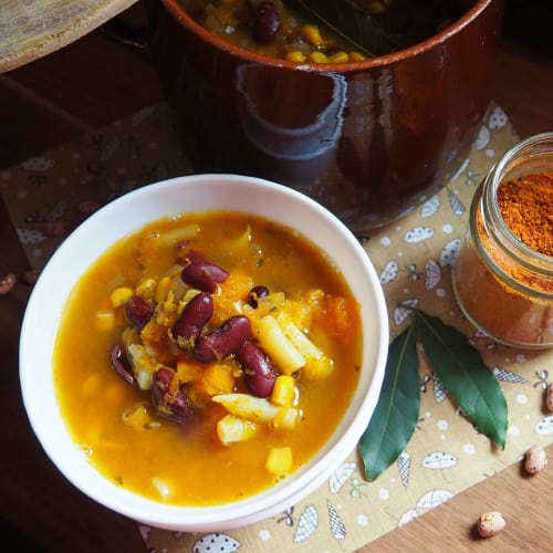 Porotos granados: zuppa di zucca cilena