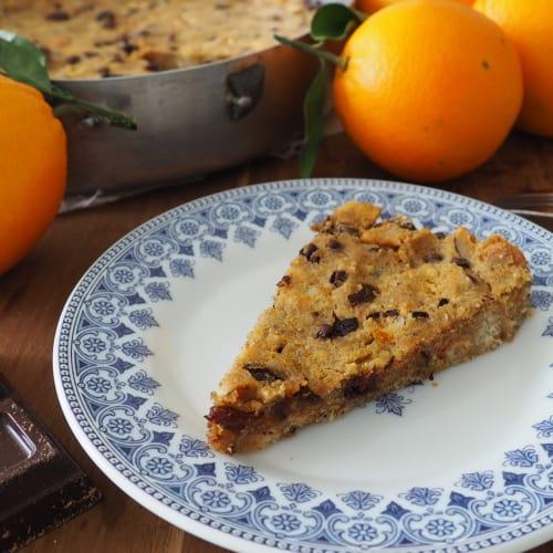 Pastel de pan de naranja