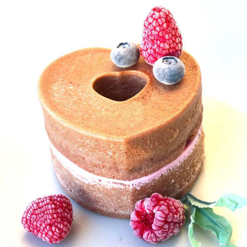 Heart cake :brownies e lamponi