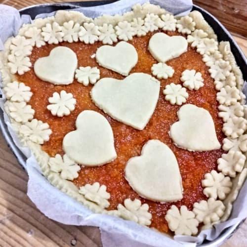 Tarta de mermelada de corazón de zanahoria