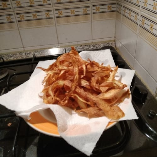 Petals of fried potatoes