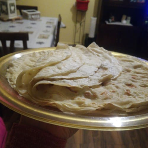 Water-based crepes with type 2 flour.