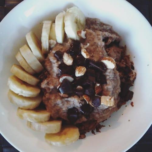 Porridge di avena e albumi