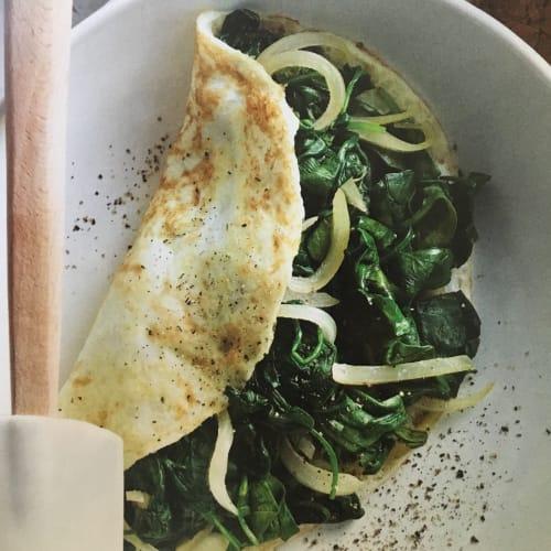 Omelette di spinaci