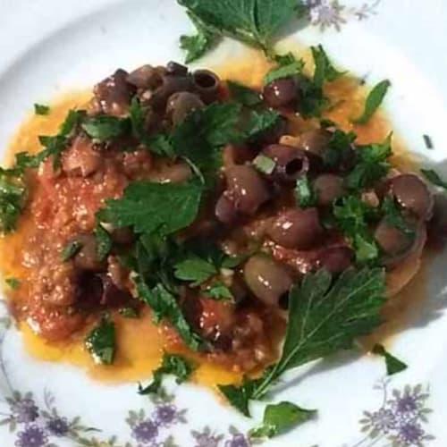 Cuori Di Merluzzo Con Pomodorini E Olive