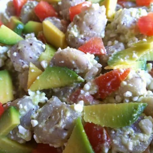 Gnocchi in salsa guacamole