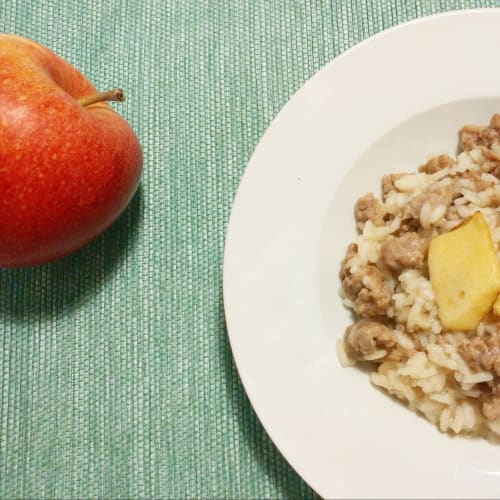 Apple and luganega risotto