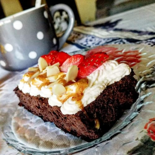 Brownies de chocolate con frijoles rojos