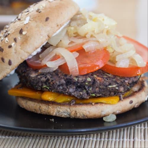 Burger di fagioli neri!