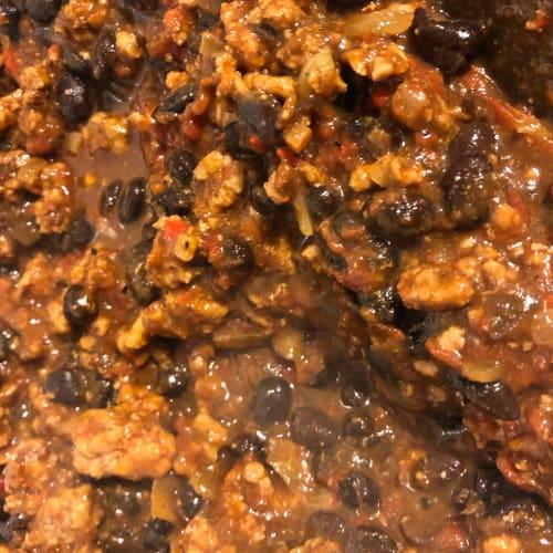 Chili piccante con fagioli neri