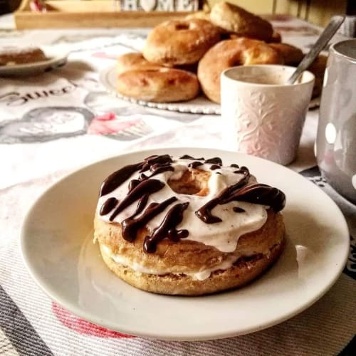 Soft baked donuts without butter and eggs